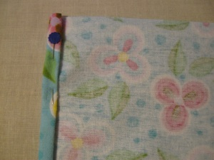 Pic. 6: Pressed edge, ready for sewing.