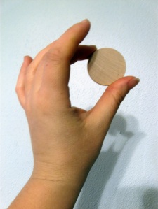 Wooden disks. So many possibilities.