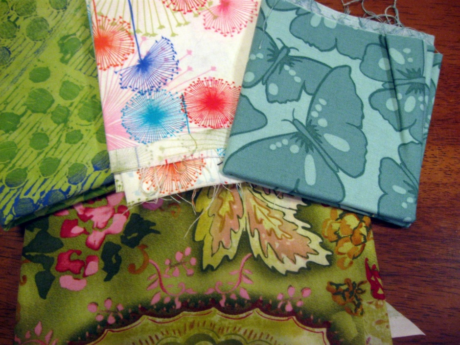 I am in love with these fabrics, but I'm not sure I love them together.