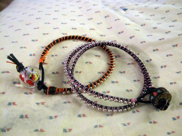Two finished bracelets. One for me, one for a friend.