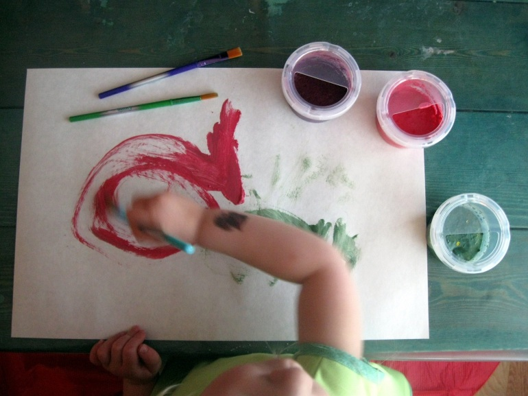 Little hands, super busy.