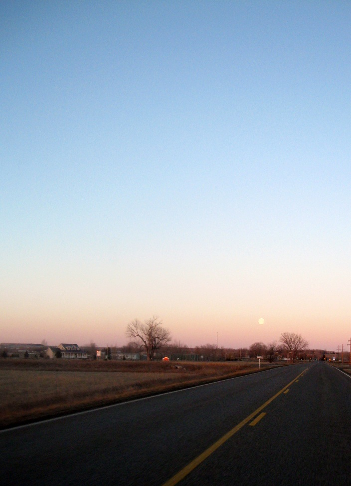 Not a spectacular photo, but it reminds me of why I love where I live. A nice, quiet drive to work along country roads.