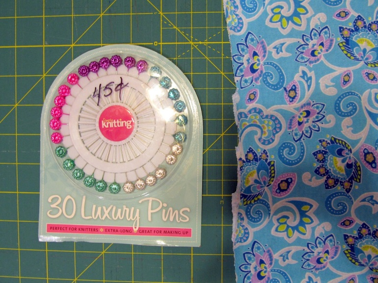 Old fabric, new pins. Sweet!