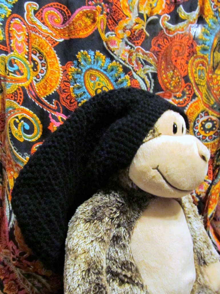 No one has monkey models like my monkey models. And he looks so cool in his hat.