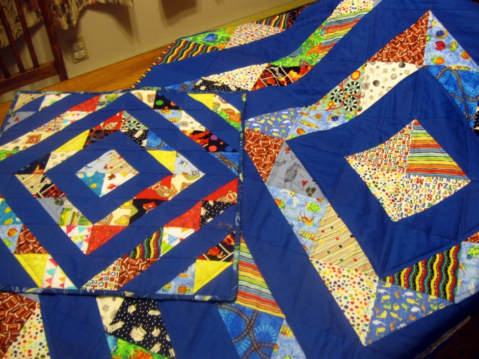 These quilts are so cool! My mom is just enough of a perfectionist to make these blocks line up perfect.
