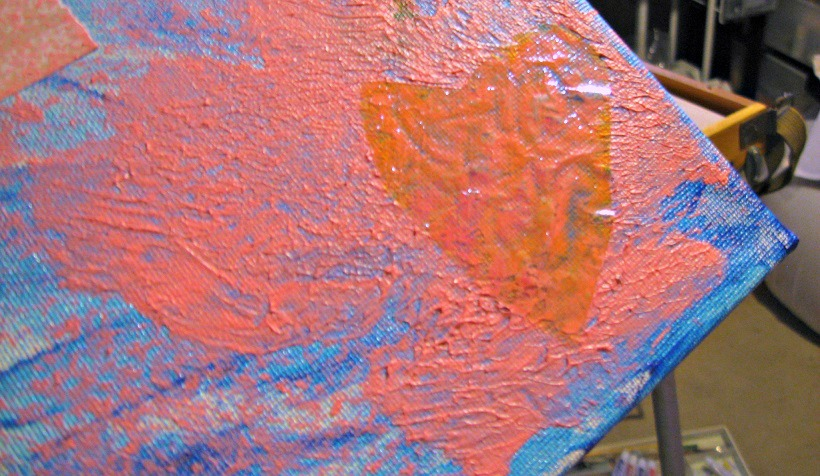 So my daughter wanted a heart on her painting. I think one of transparent iridescent plastic fits the bill.