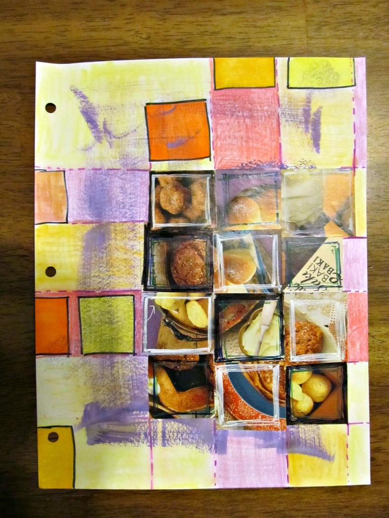 Simple grid created from a page out of the King Arthur Flour catalog.