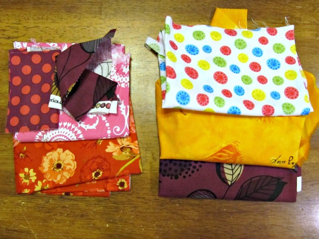 These are all the fabrics my daughter picked. I think she has pretty good taste!