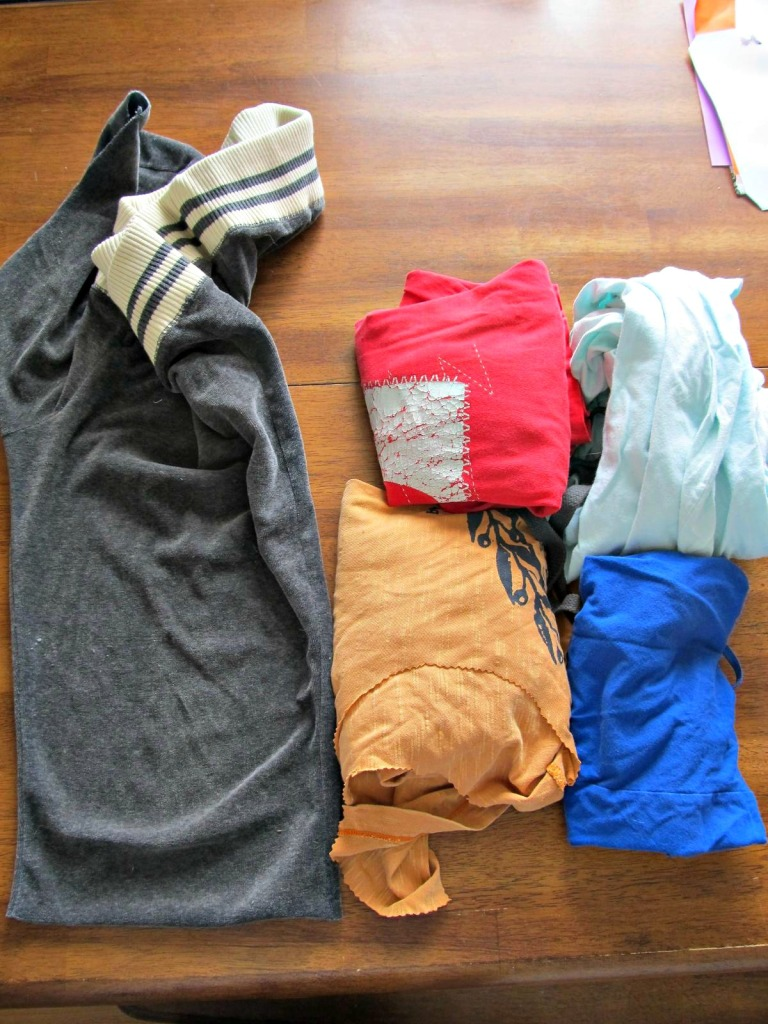 All the fabrics I pulled to start with. I only used three, but it's good to know I could make more hats easily.